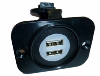 USB SOCKET - TWIN USB SOCKET- FLUSH PANEL MOUNT   <br> ALT/USB-199 -25 BACKLIGHT -PANEL